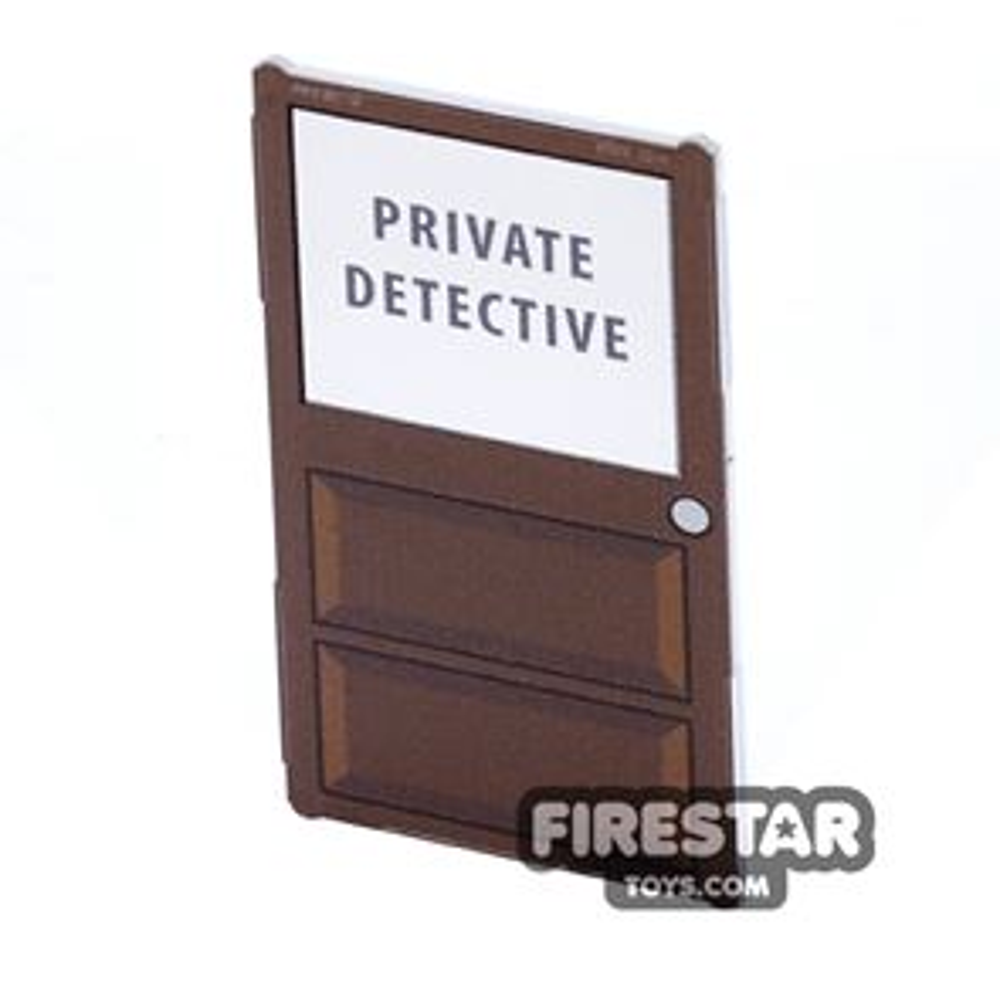 Printed Window Glass 1x4x6 - Private Detective Door