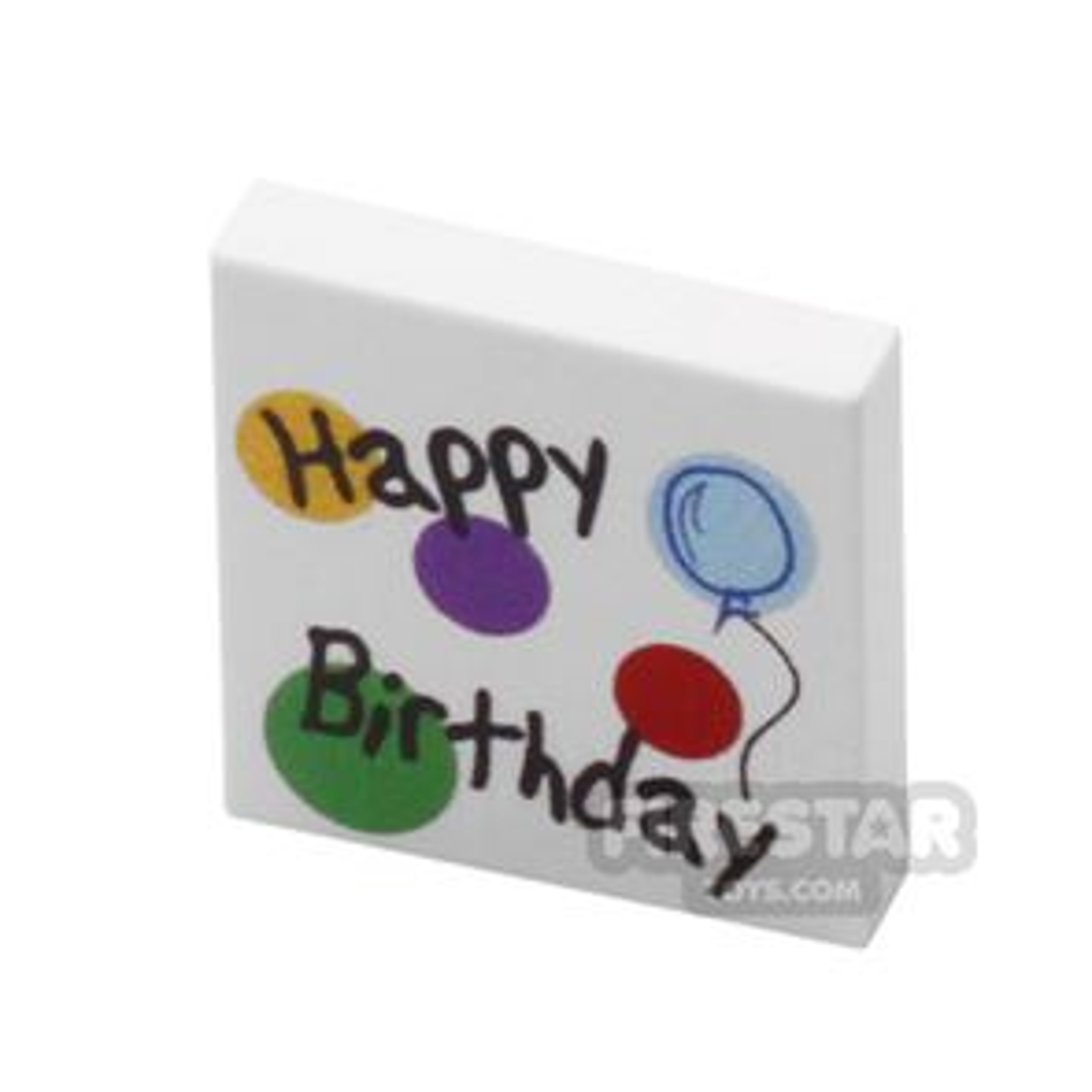 Printed Tile 2x2 - Happy Birthday Card