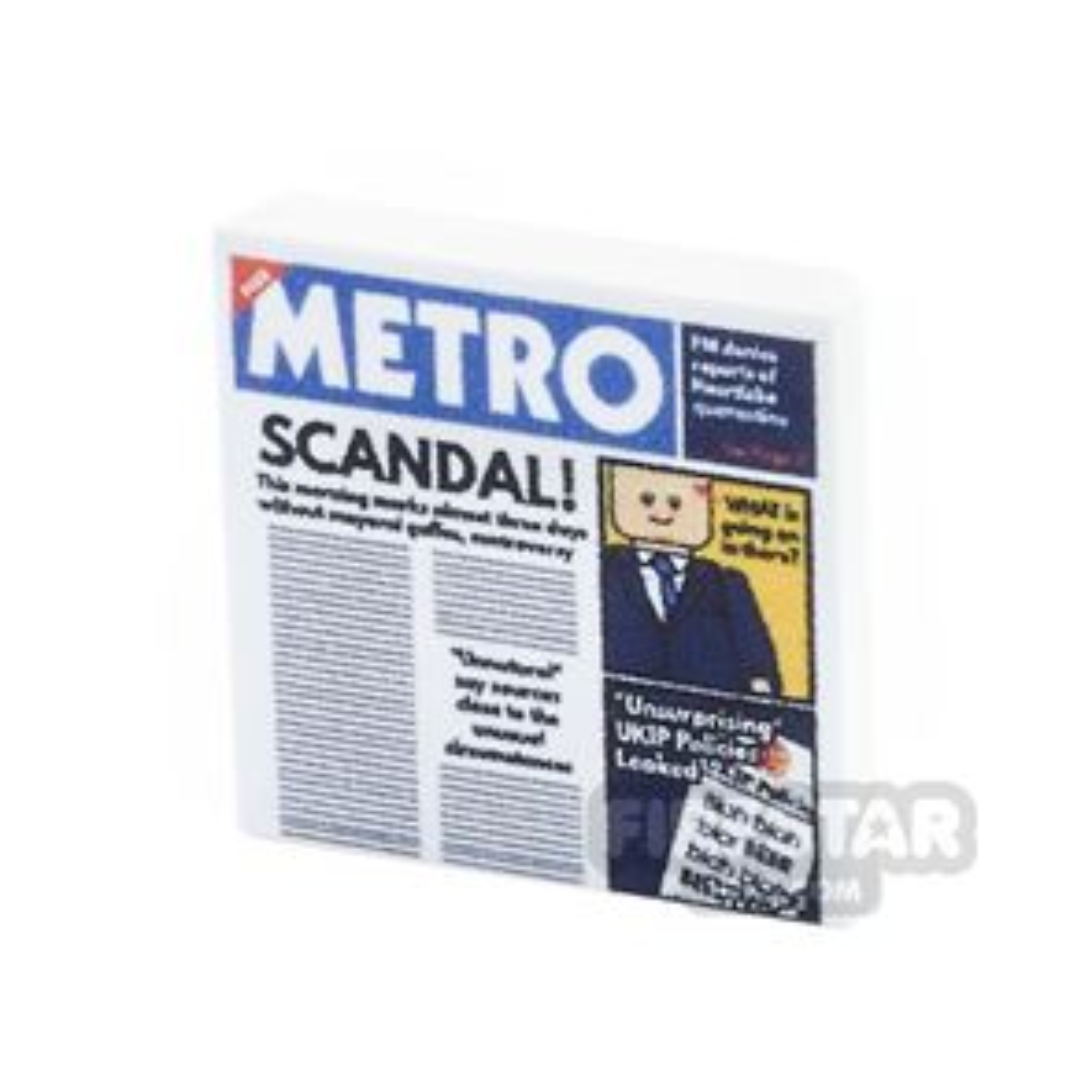 Printed Tile 2x2 - Metro Newspaper