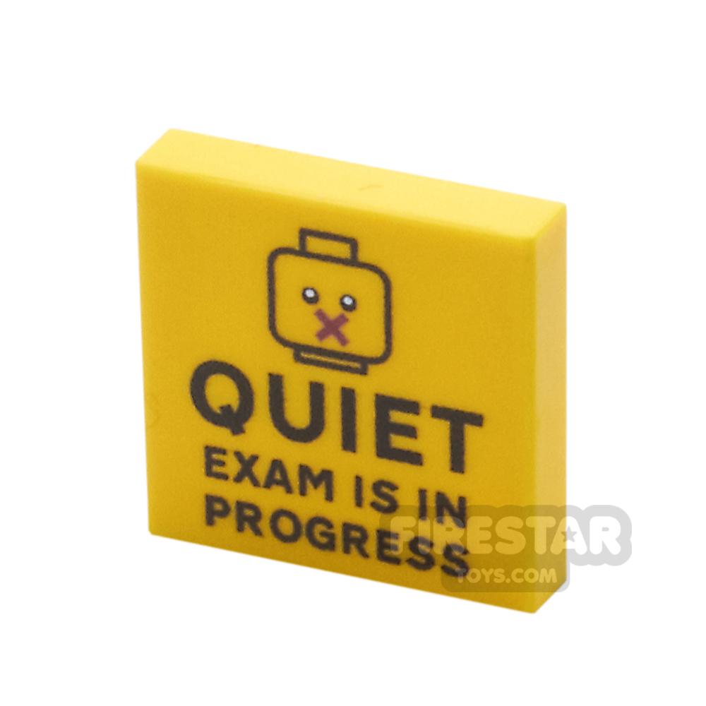 Printed Tile 2x2 - Quiet, Exam In Progress Sign