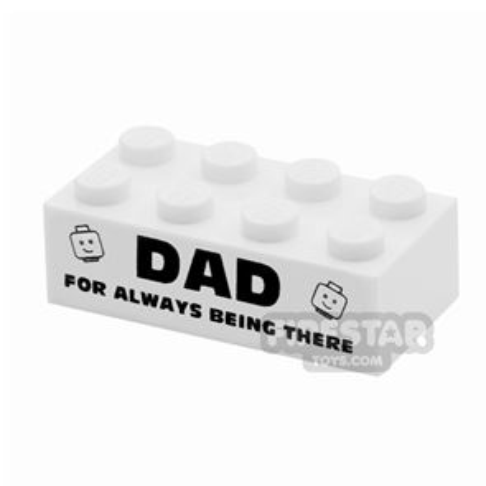 Printed Brick 2x4 - Awesome Dad