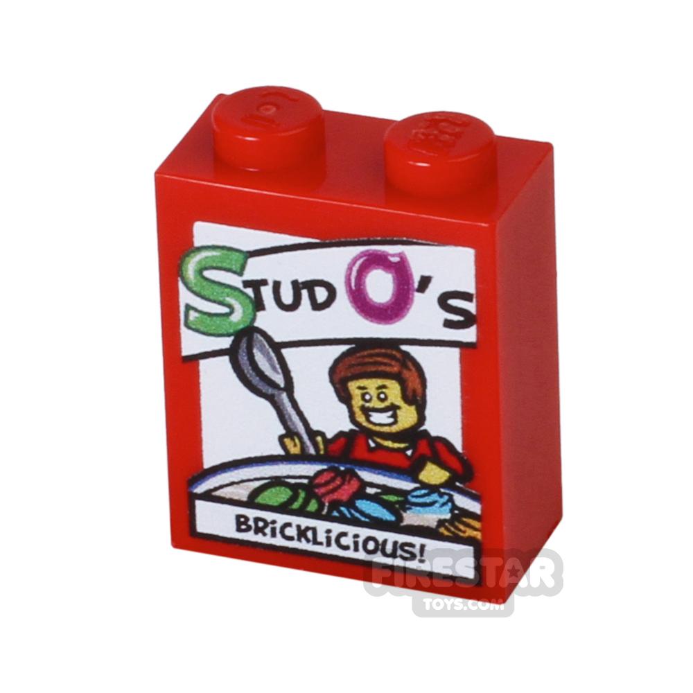 Printed Brick 1x2x2 - Studo's Cereal
