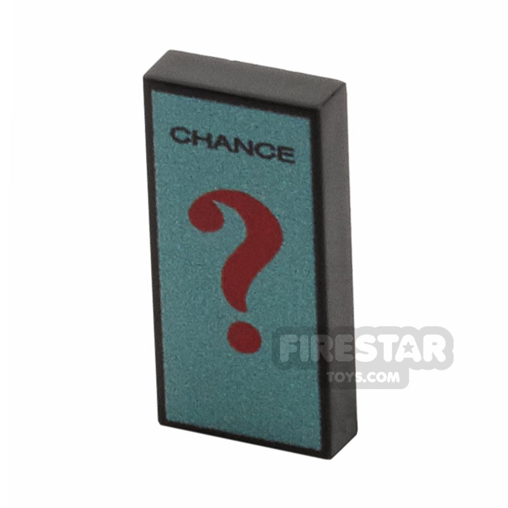 Printed Tile 1x2 - Chance Card