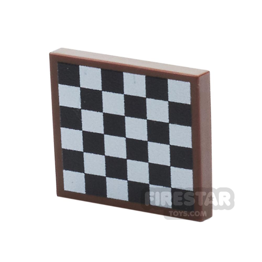 Printed Tile 2x2 - Chess Board