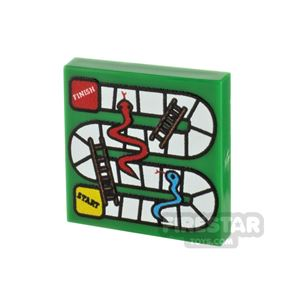 Printed Tile 2x2 - Snakes and Ladders Board