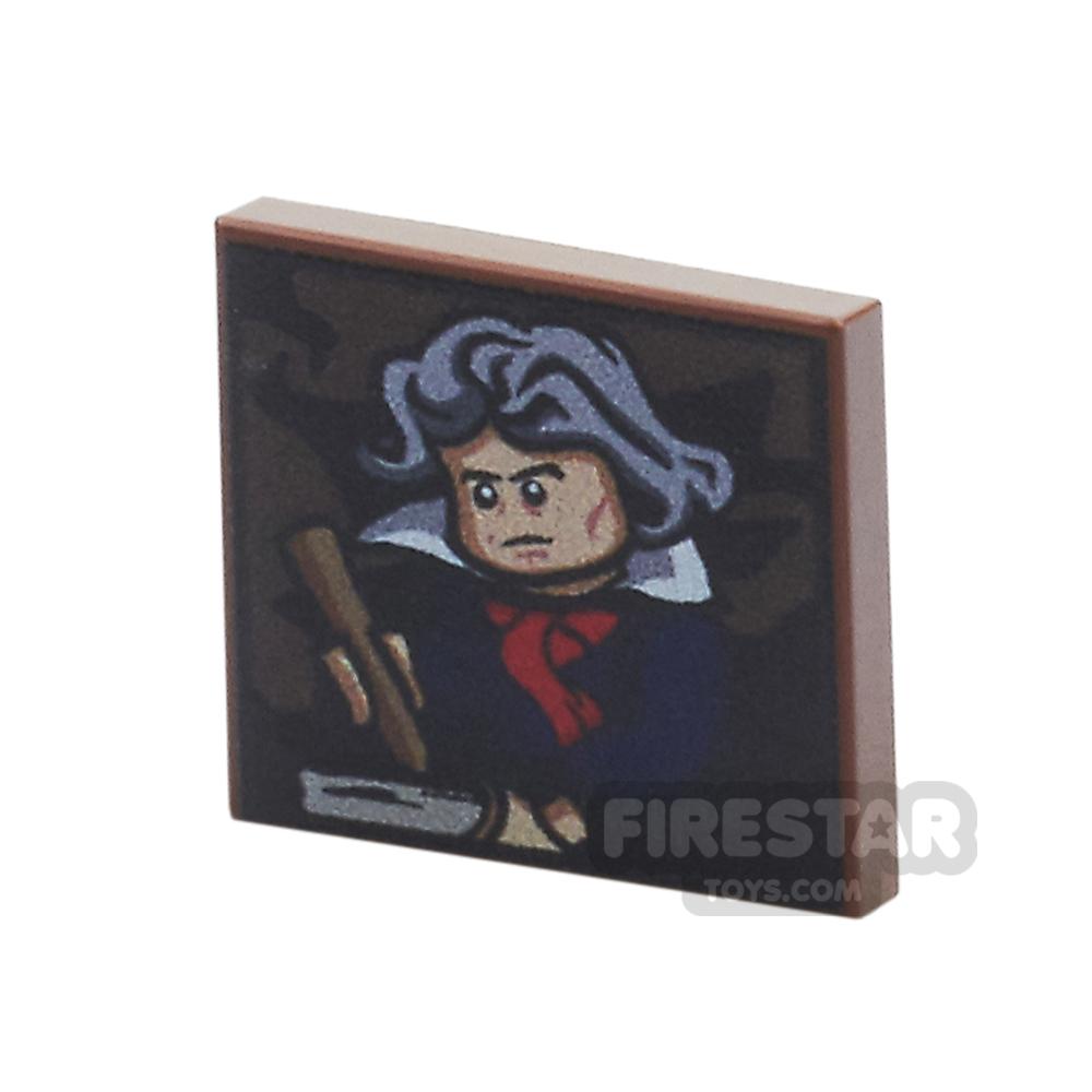 Printed Tile 2x2 - Beethoven Portrait