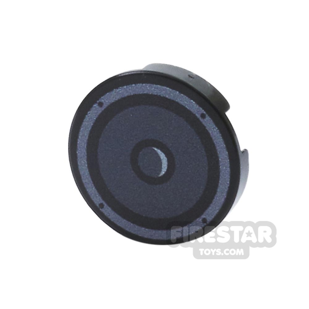 Printed Round Tile 2x2 - Speaker