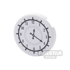 Printed Round Tile 2x2 - Office Clock Face