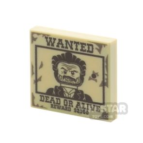 Printed Tile 2x2 - Wanted Poster