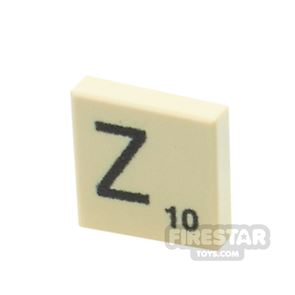 Printed Tile 1x1 - Scrabble Tile