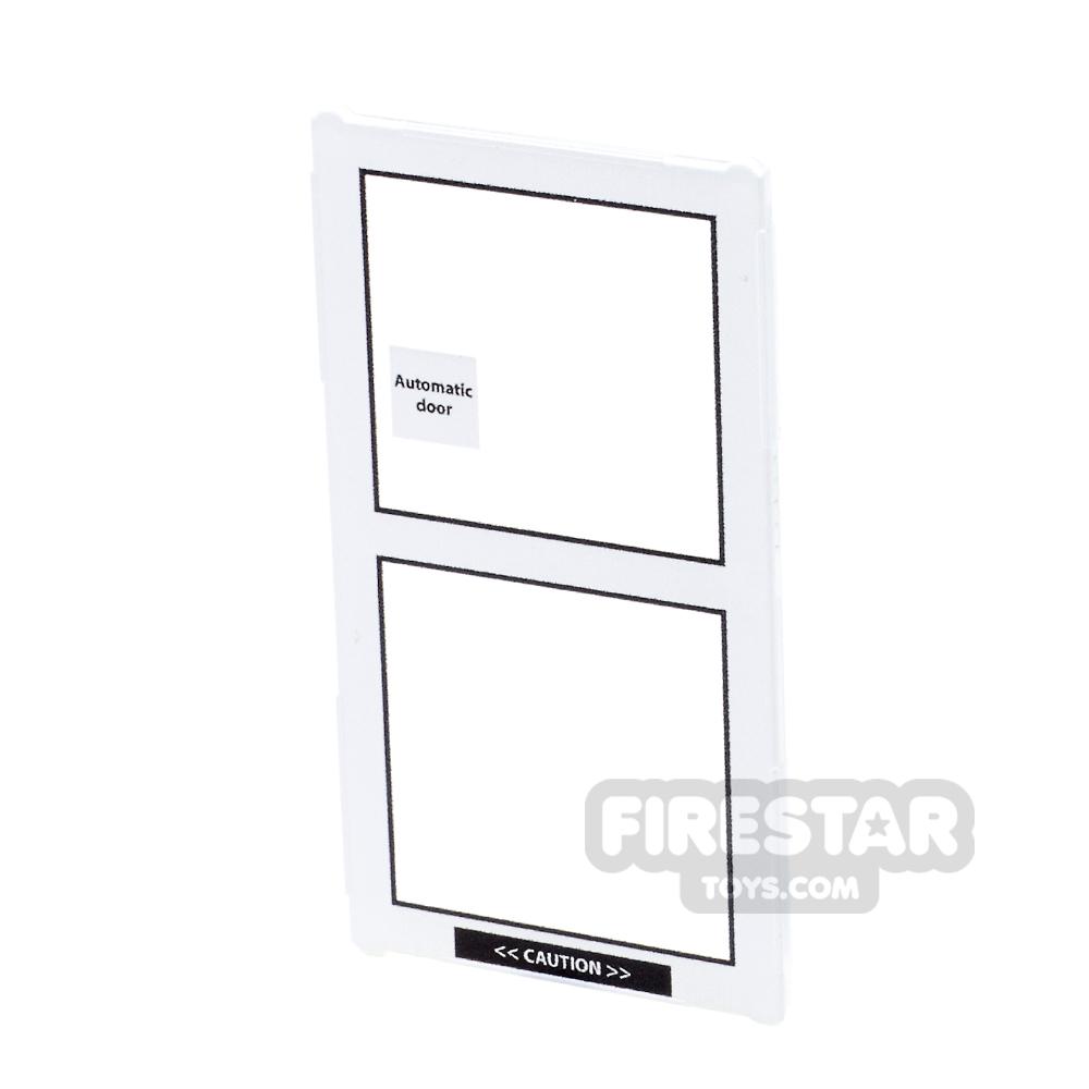 Printed Window Glass 1x4x6 - Sliding Door - Right