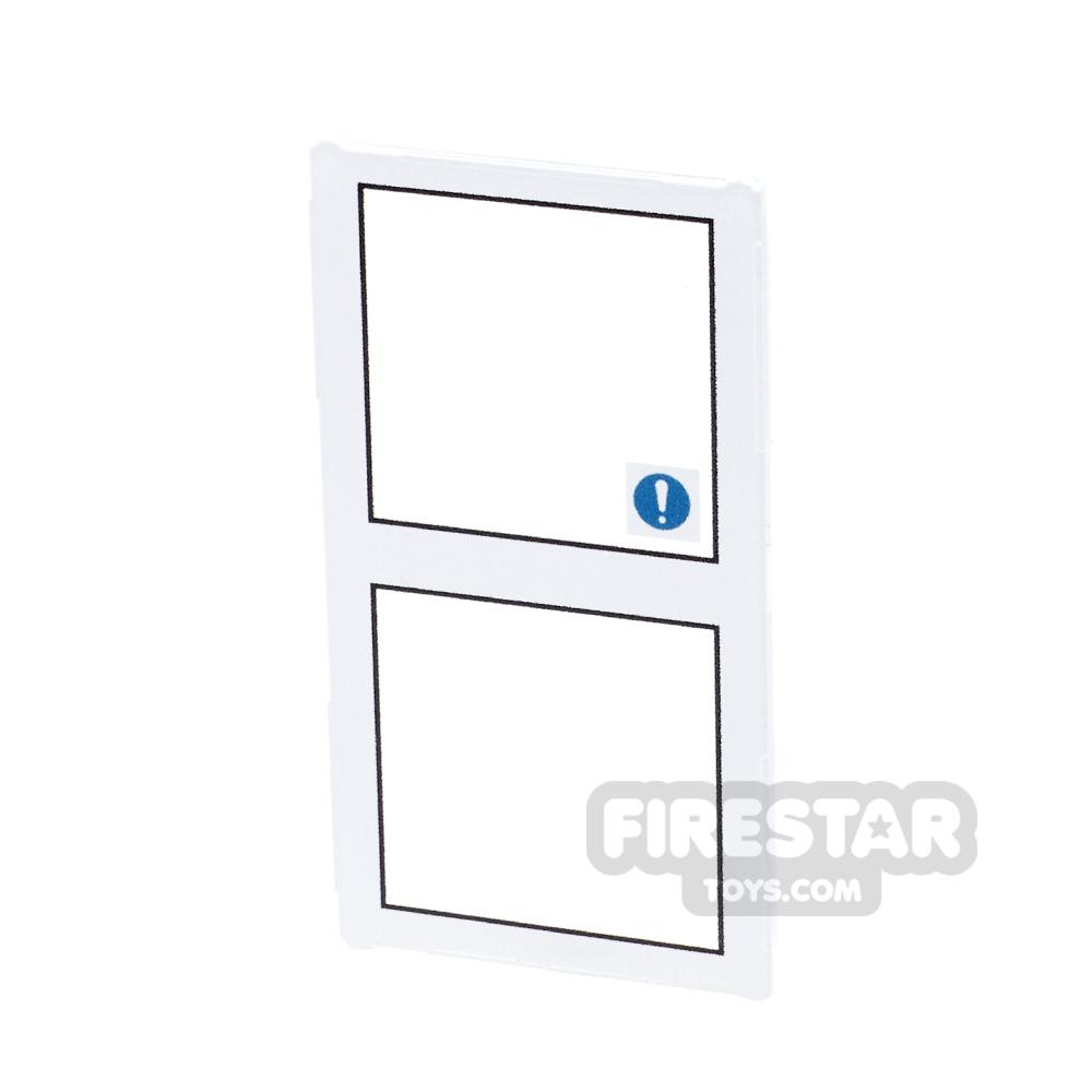 Printed Window Glass 1x4x6 - Push Bar Door