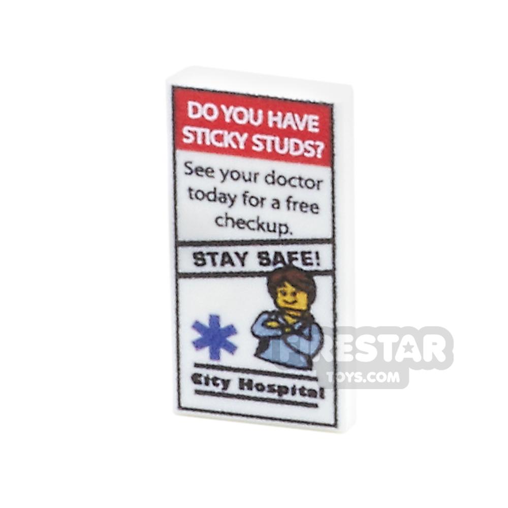 Printed Tile 1x2 - Medical Leaflet 1