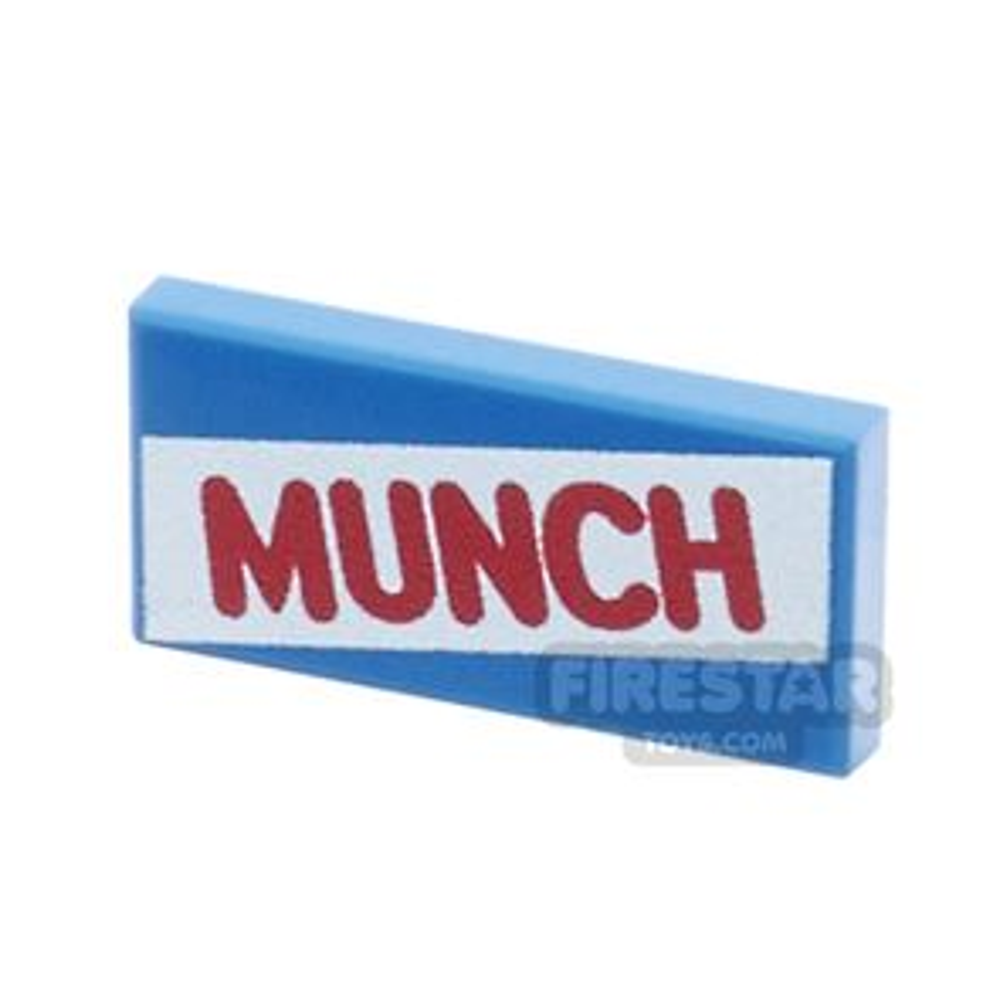 Printed Tile 1x2 - Munch Bar
