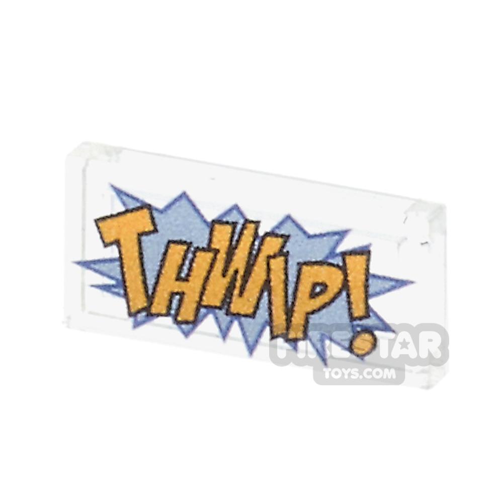 Printed Tile 1x2 - Comic Book 'THWIP' Tile