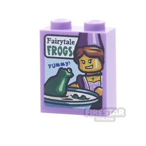 Printed Brick 1x2x2 - Fairytale Frogs Cereal