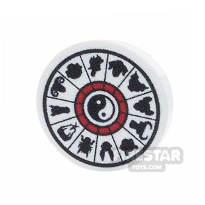 Printed Round Tile 2x2 - Chinese Calendar