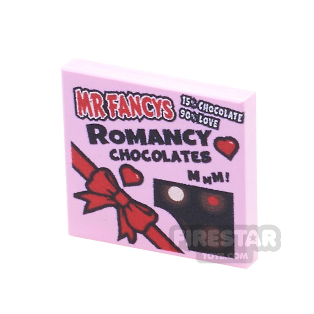 Printed Tile 2x2 - Valentines Chocolate Box