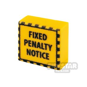 Printed Tile 1x1 - Fixed Penalty Notice