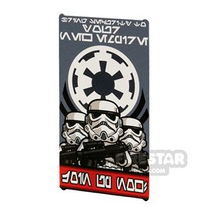 Printed Window Glass 1x4x6 Imperial Stormtrooper Poster