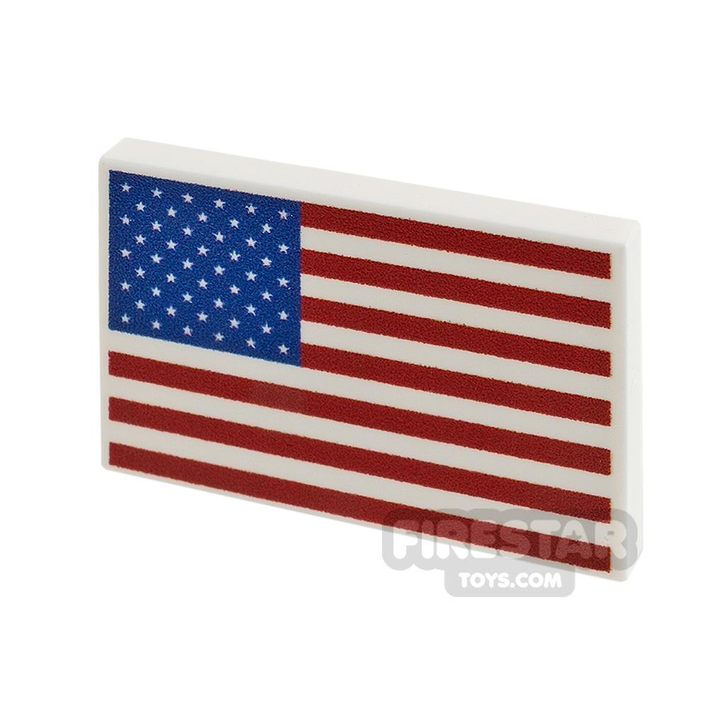 Printed Tile 2x3 USA Flag