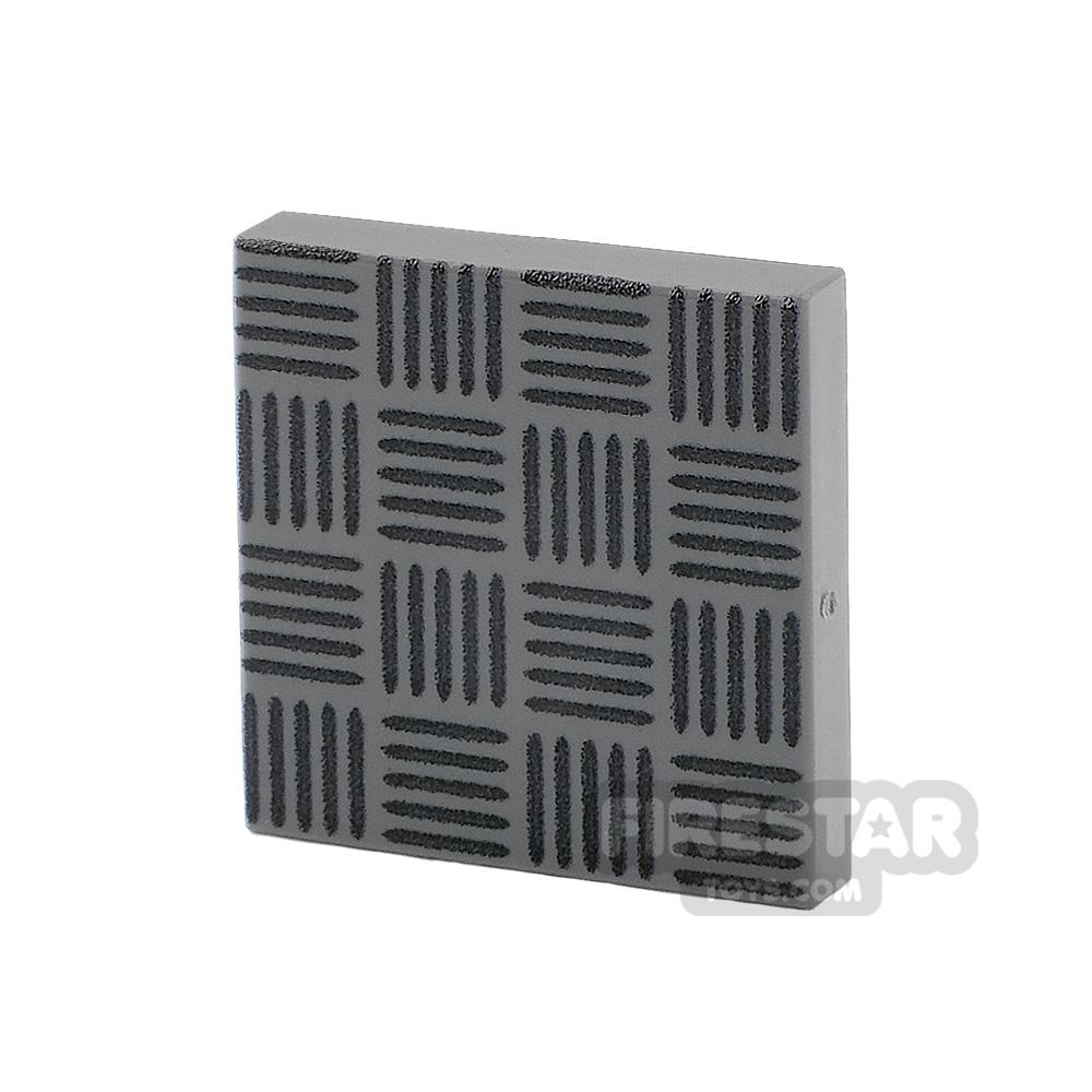 Printed Tile 2x2 Floor Tile Steel Plate