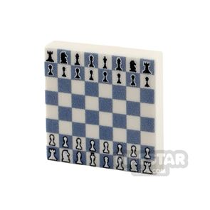 Printed Tile 2x2 - Chess Board - White