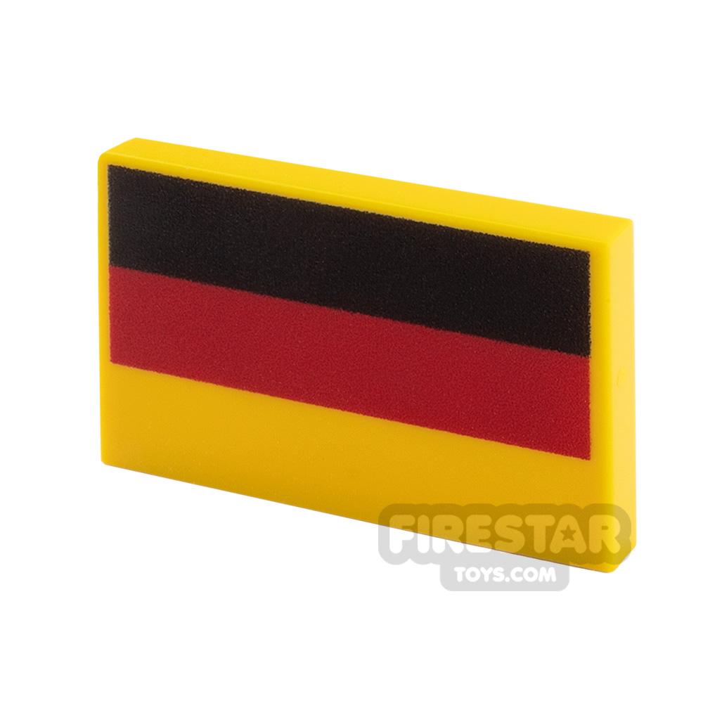 Printed Tile 2x3 German Flag