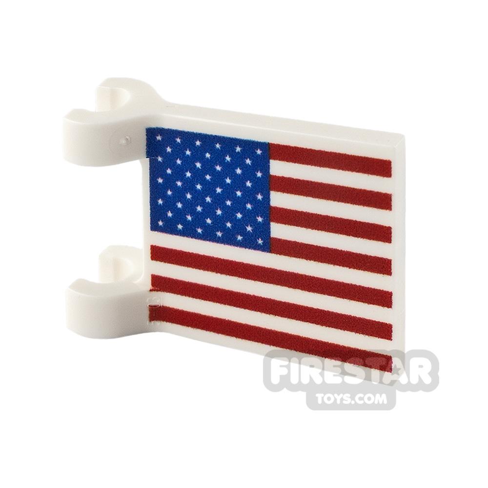 Printed Flag with 2 Holders 2x2 USA Flag