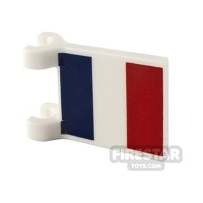 Printed Flag with 2 Holders 2x2 French Flag