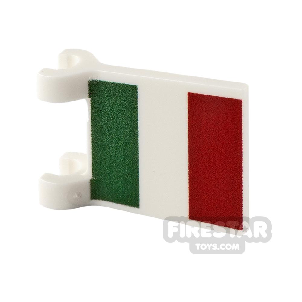 Printed Flag with 2 Holders 2x2 Italian Flag