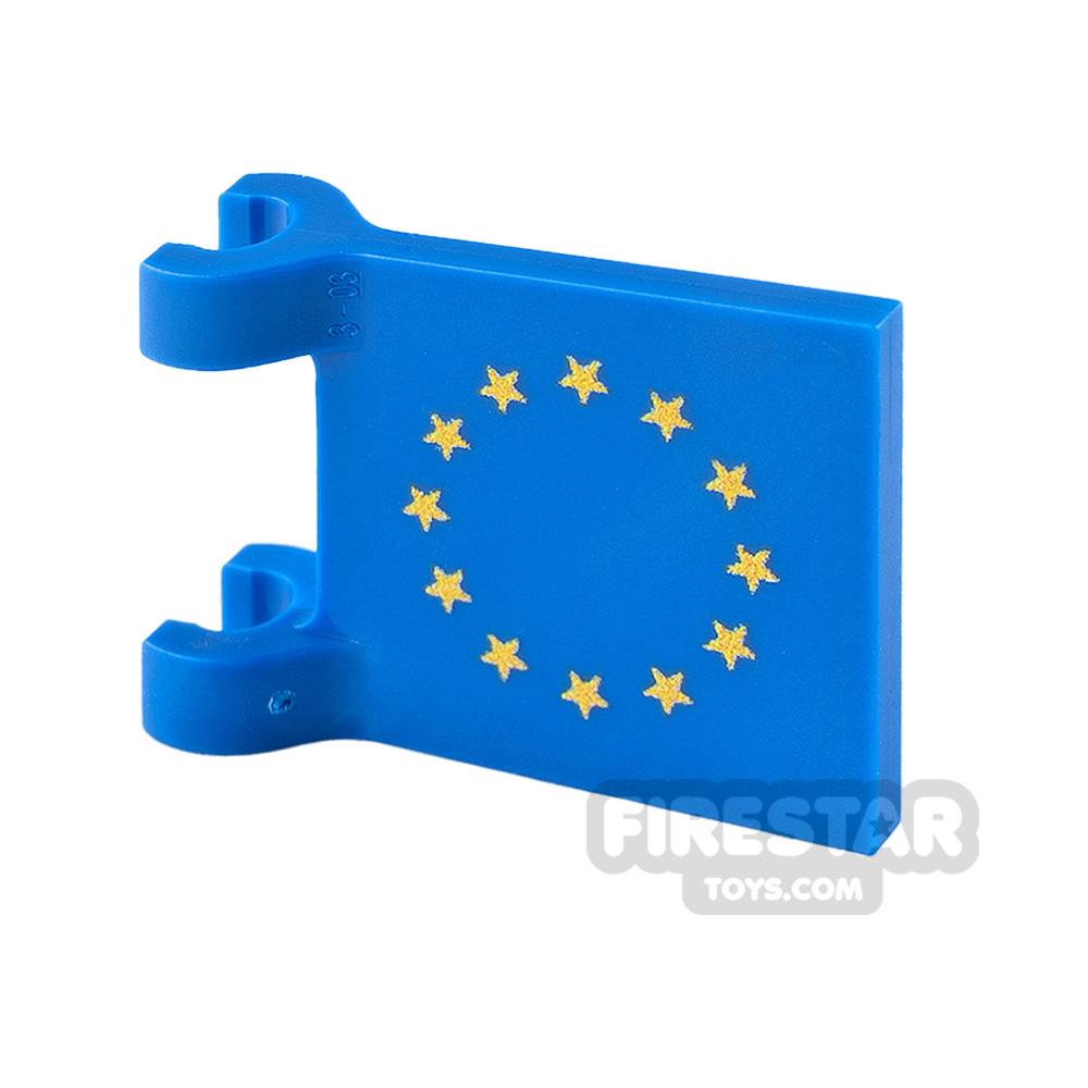 Printed Flag with 2 Holders 2x2 EU Flag