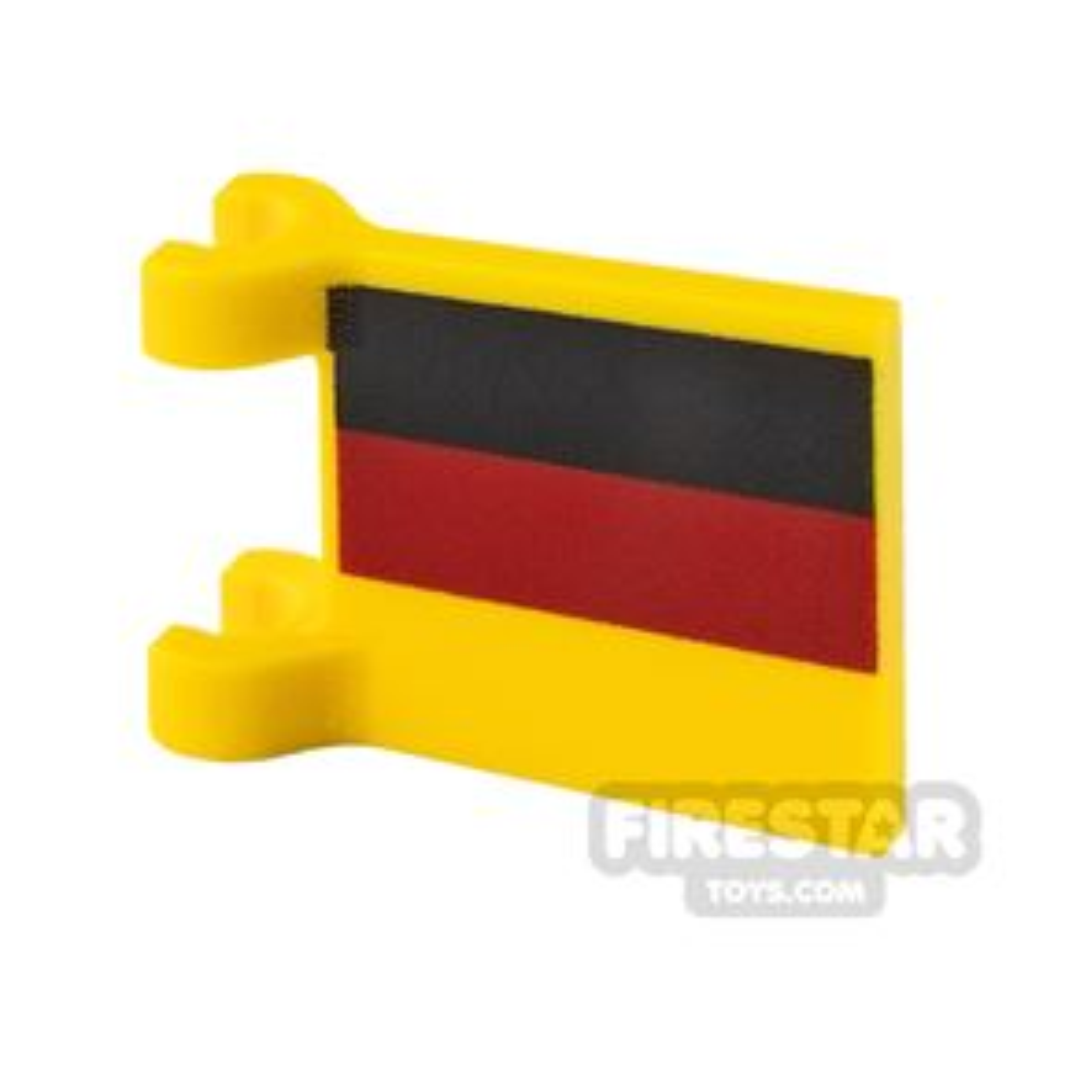 Printed Flag with 2 Holders 2x2 German Flag