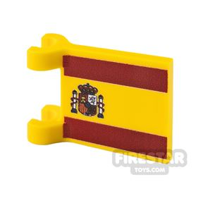 Printed Flag with 2 Holders 2x2 Spanish Flag