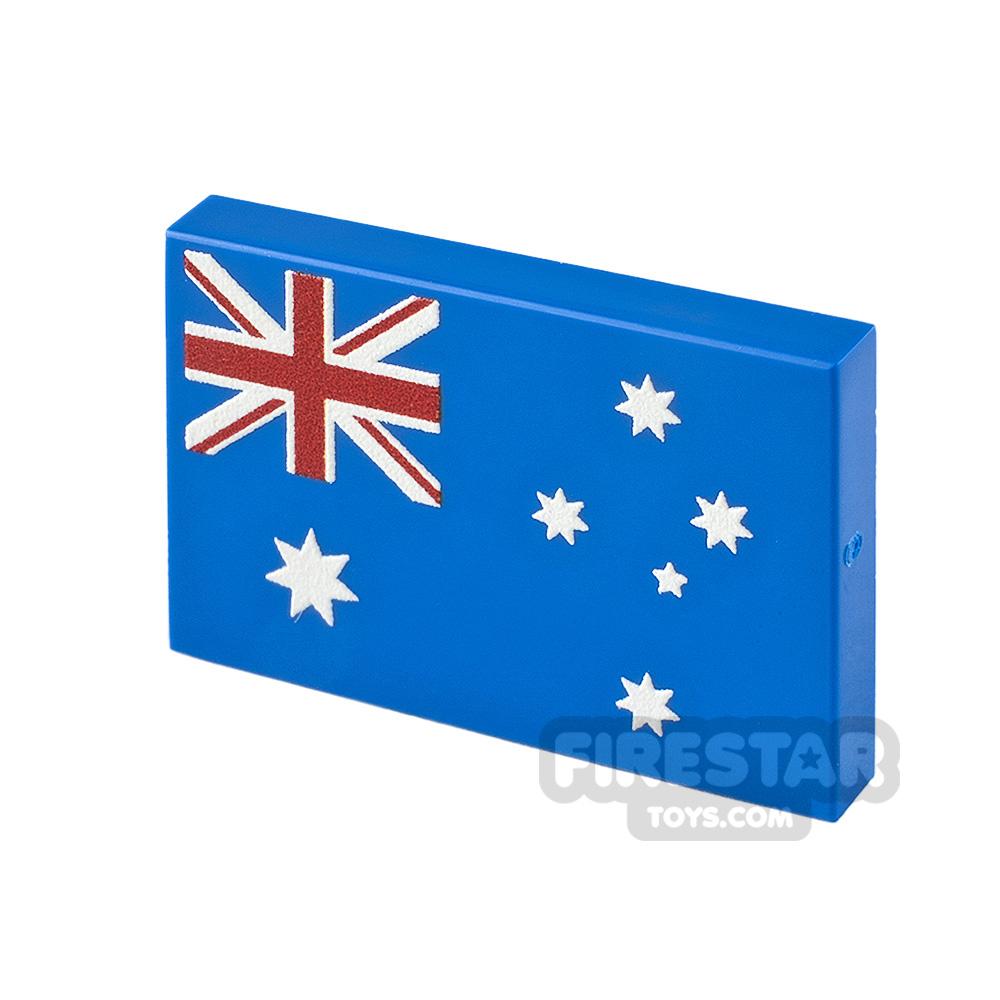 Printed Tile 2x3 Australian Flag