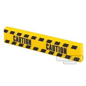 Printed Tile 1x4 Yellow Tape Caution