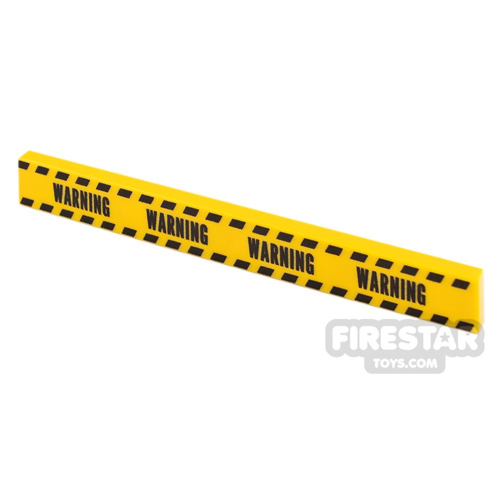 Printed Tile 1x8 Yellow Tape Warning