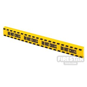 Printed Tile 1x8 Yellow Tape Do Not Cross