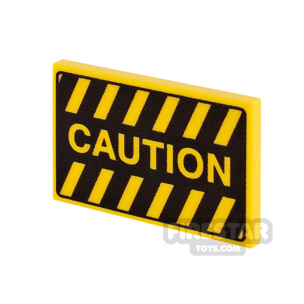 Printed Tile 2x3 Caution