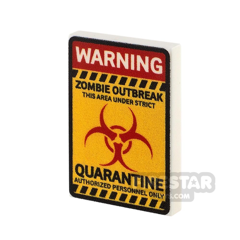 Printed Tile 2x3 Quarantine