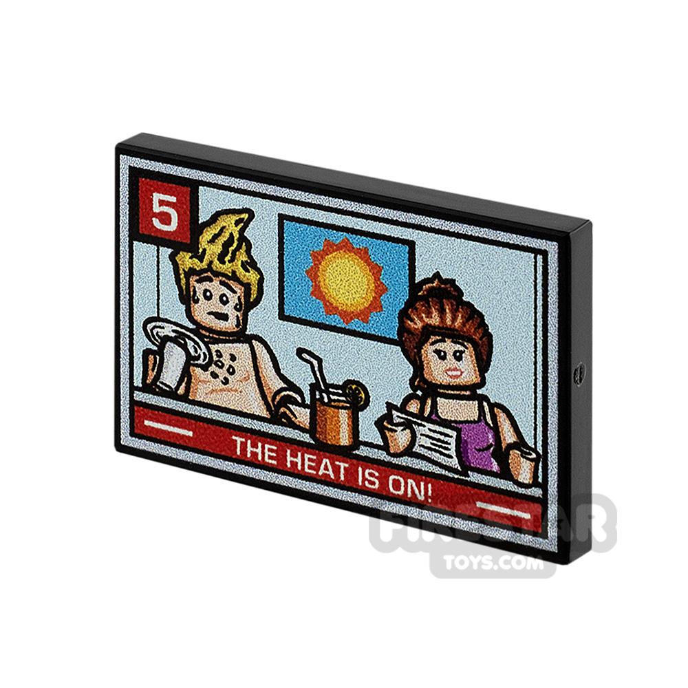Printed Tile 2x3 TV News Report Heatwave