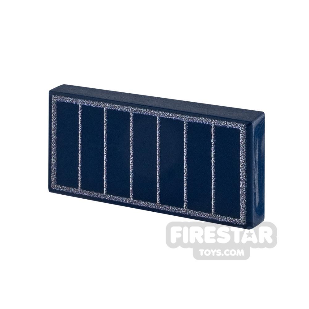 Printed Tile 1x2 Solar Panel
