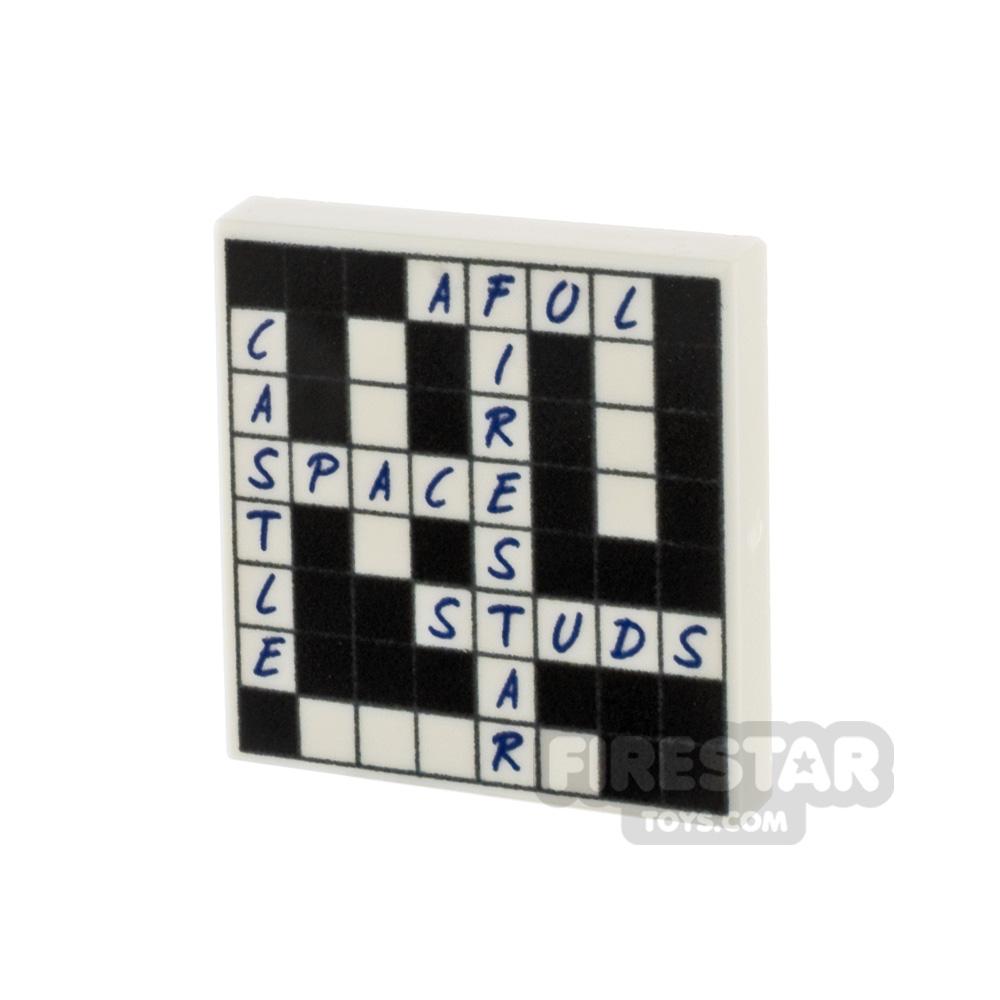 Printed Tile 2x2 Crossword