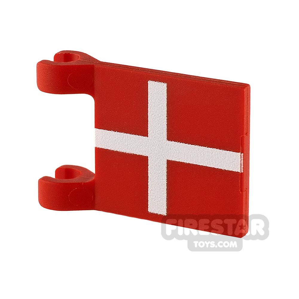 Printed Flag with 2 Holders 2x3 Danish Flag
