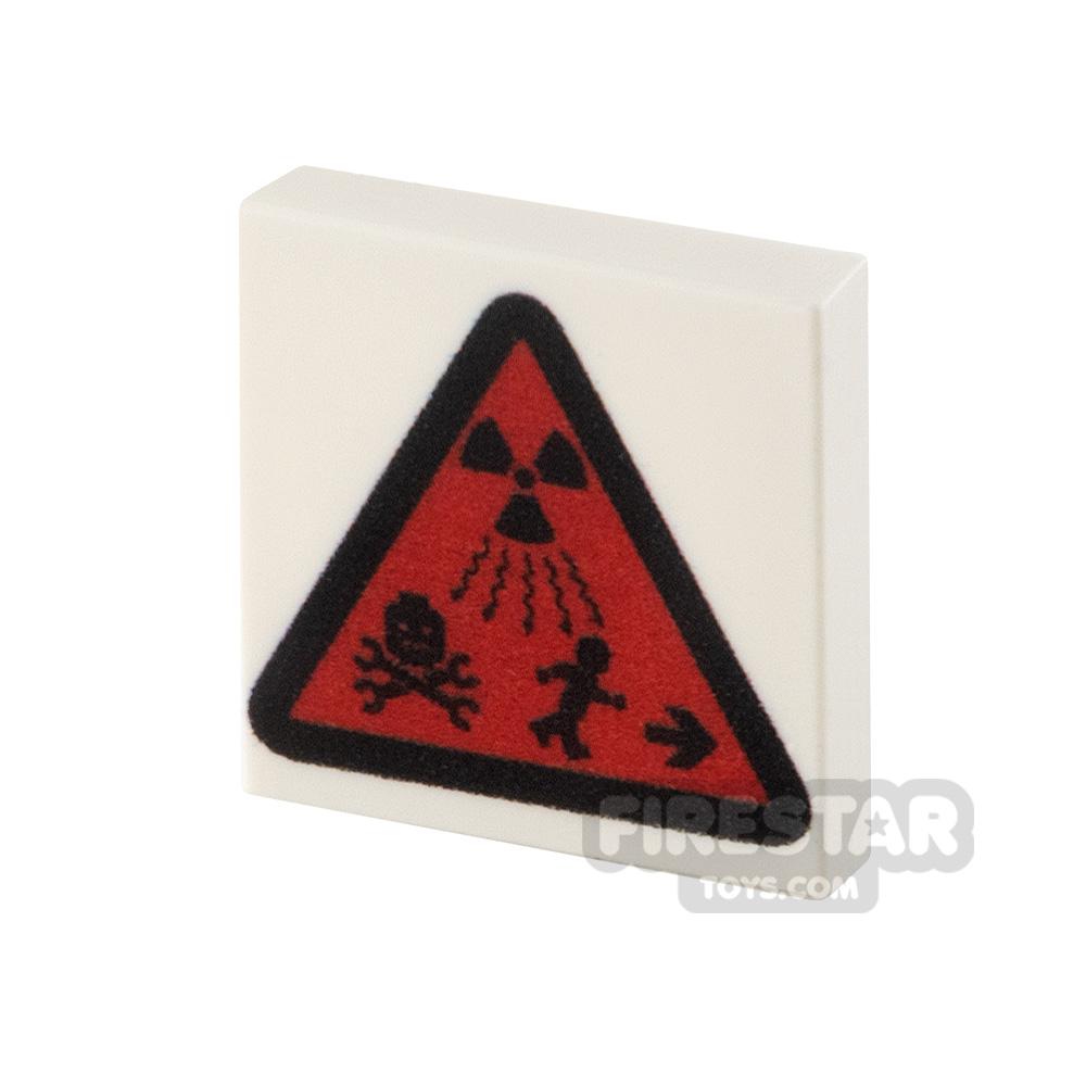 Printed Tile 2x2 Radioactive Triangle