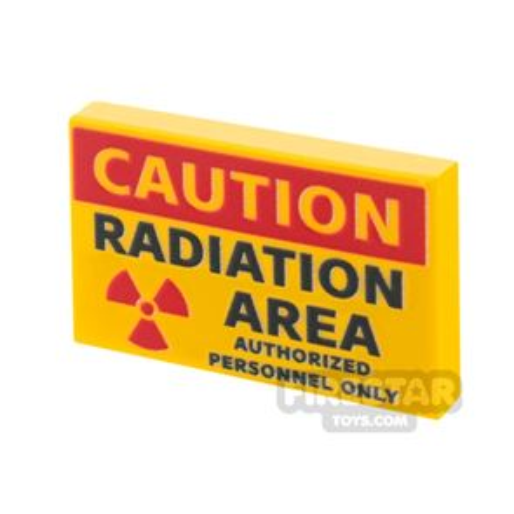 Printed Tile 2x3 Radiation Sign