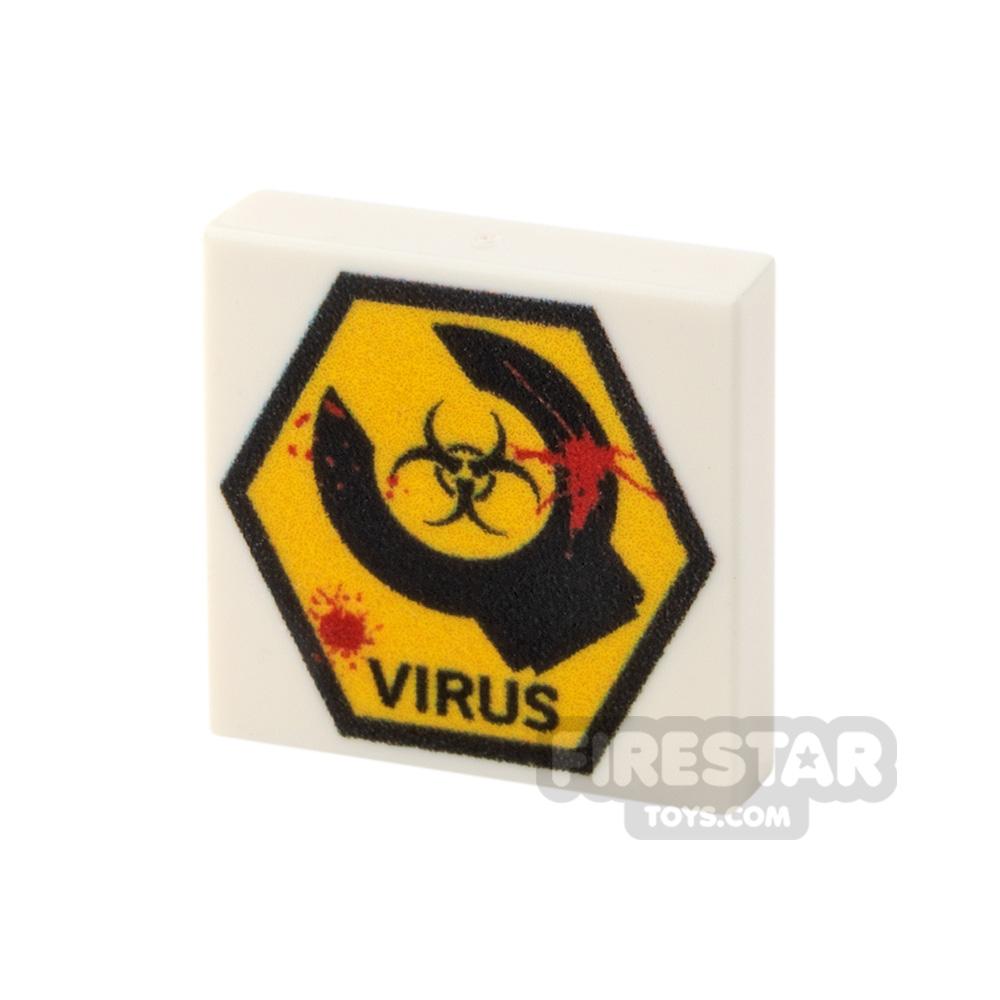 Printed Tile 2x2 Virus Sign