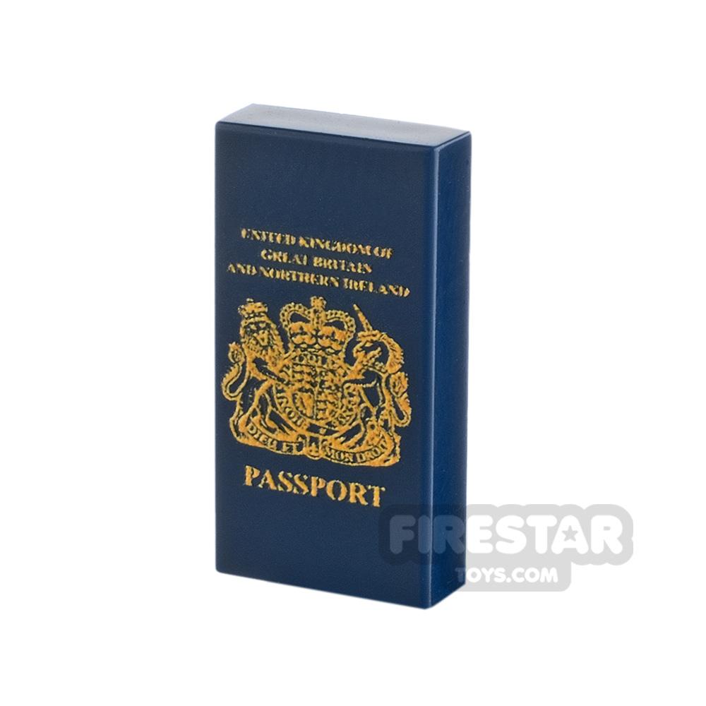 Printed Tile 1x2 British Passport