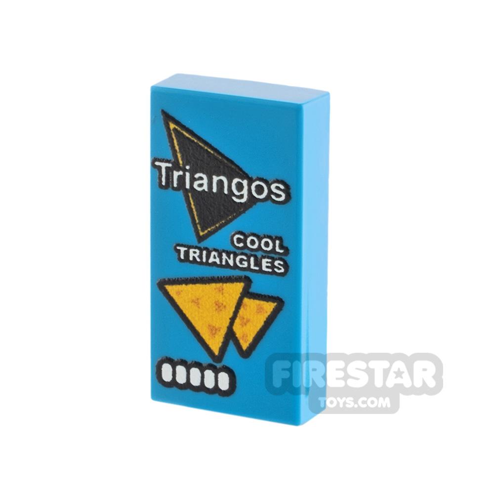 Printed Tile 1x2 Triangos Cool Original