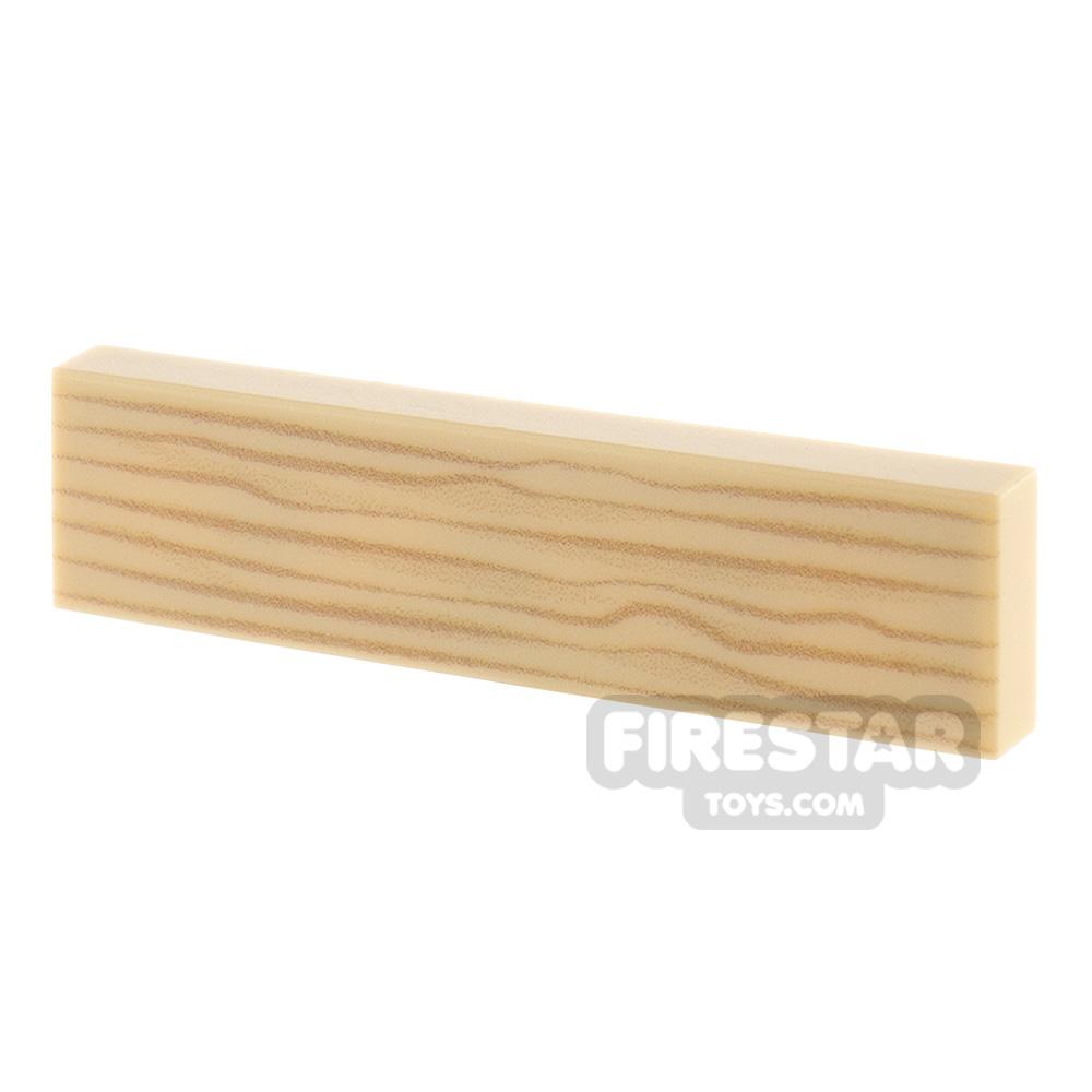 Printed Tile 1x4 Wood Grain - Tan